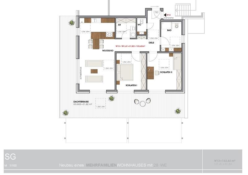 wohnung kaufen 3 zimmer 133.43 m² perl foto 2