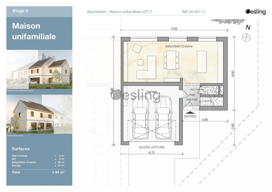 doppelhaushälfte kaufen 3 schlafzimmer 138.89 m² baschleiden foto 6