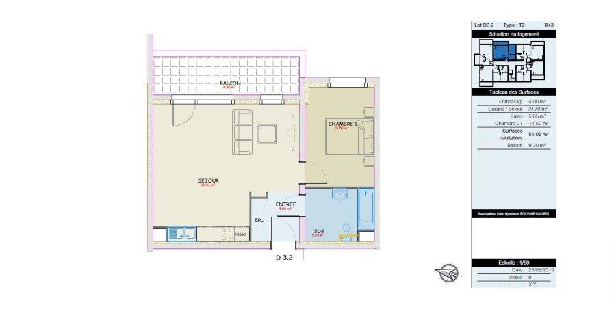 acheter appartement 2 pièces 51.05 m² mondelange photo 4
