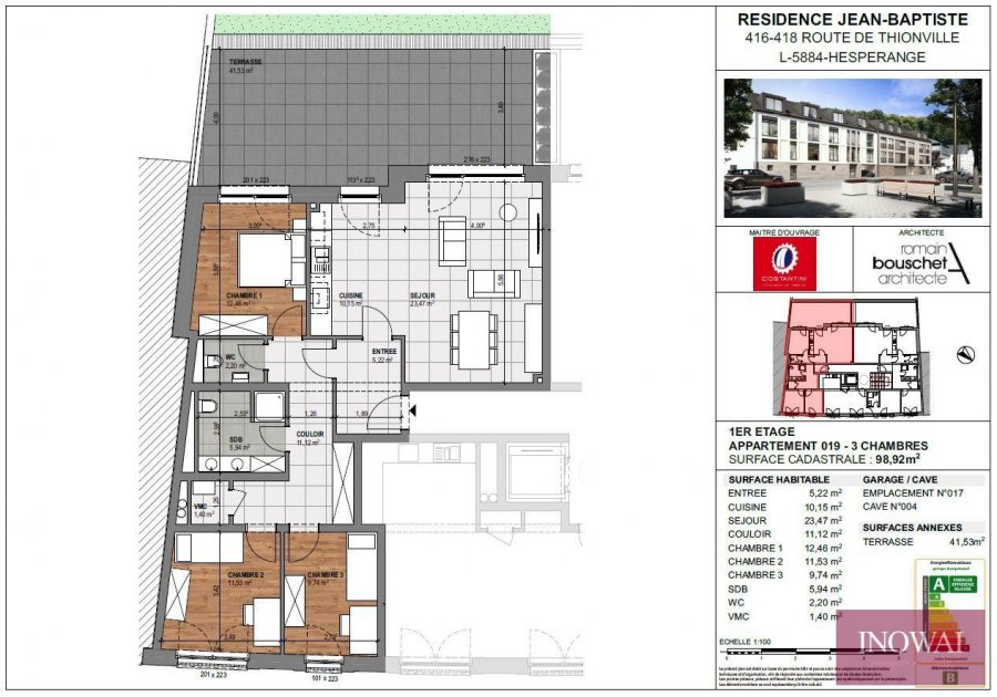 wohnung kaufen 3 schlafzimmer 98.92 m² hesperange foto 2