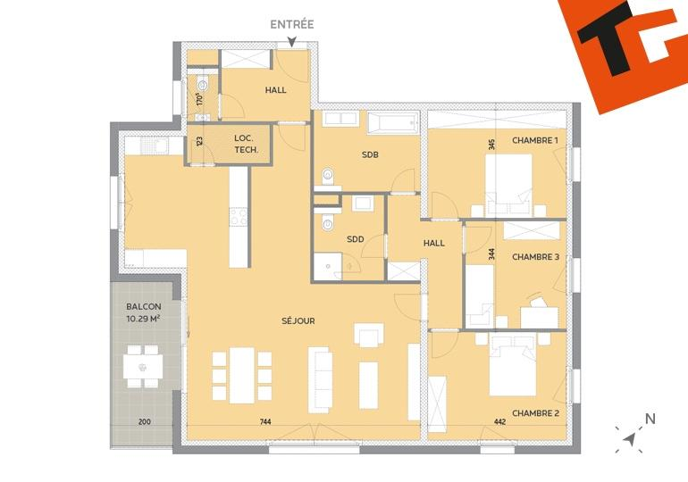 acheter appartement 3 chambres 140.18 m² howald photo 1