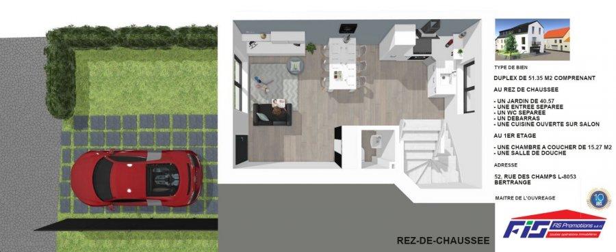 Duplex à vendre 1 chambre à Bertrange