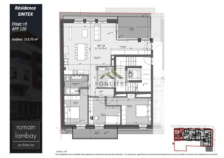 acheter penthouse 3 chambres 121.8 m² luxembourg photo 5