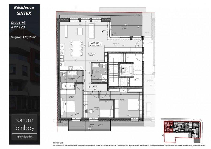 penthouse-wohnung kaufen 3 schlafzimmer 121.8 m² luxembourg foto 5
