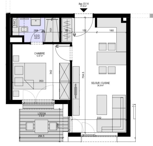 acheter appartement 1 chambre 47.7 m² luxembourg photo 4