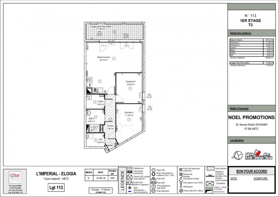 acheter appartement 3 pièces 68 m² metz photo 1