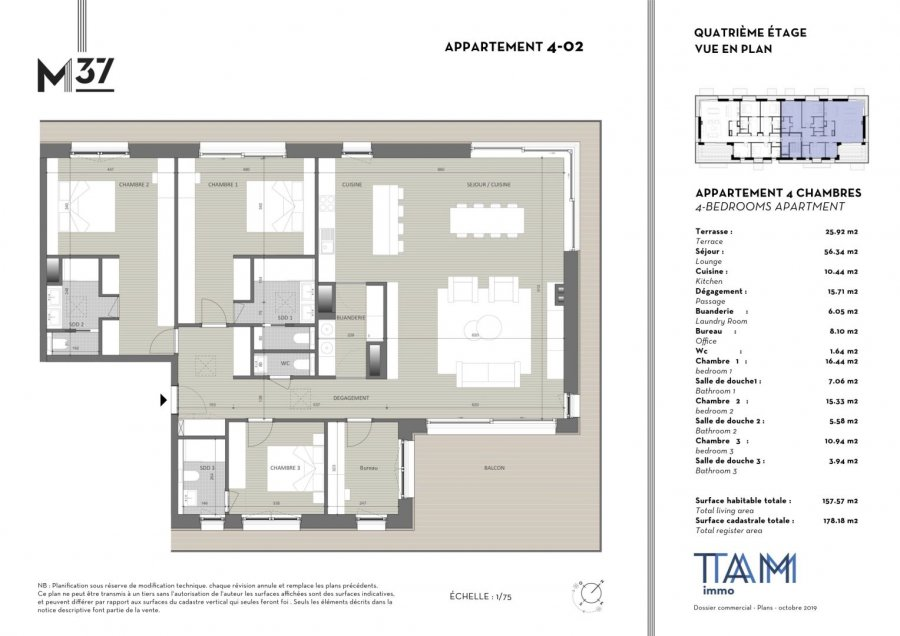 acheter penthouse 4 chambres 157.57 m² luxembourg photo 2