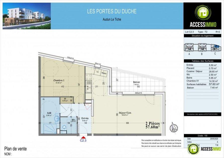 acheter appartement 0 pièce 57.6 m² audun-le-tiche photo 3