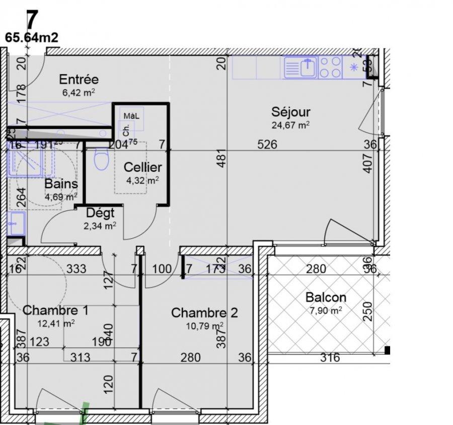acheter appartement 3 pièces 65.64 m² yutz photo 4