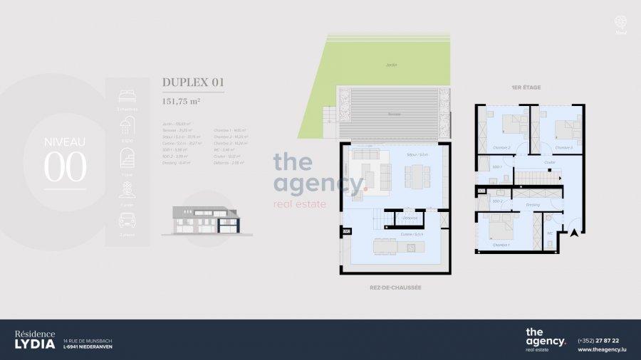 acheter duplex 3 chambres 151.75 m² niederanven photo 2