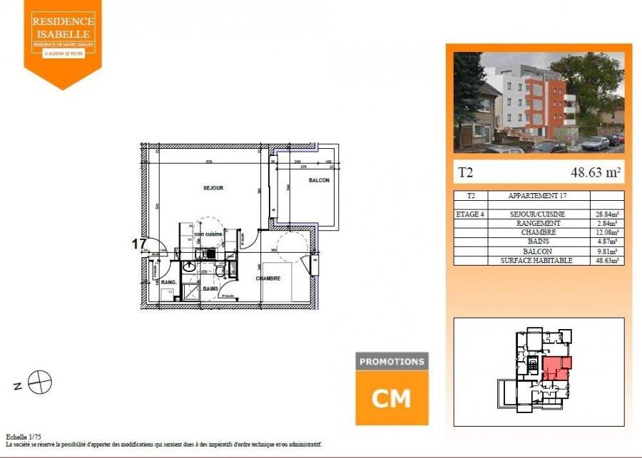 acheter appartement 2 pièces 48.63 m² audun-le-tiche photo 2