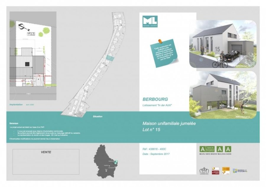 acheter maison individuelle 3 chambres 138 m² berbourg photo 3