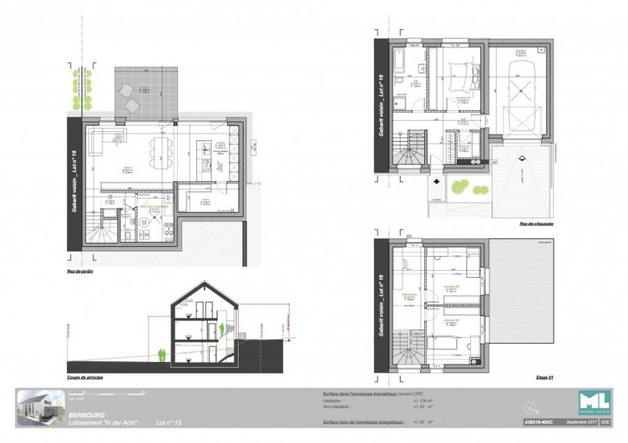 acheter maison individuelle 3 chambres 138 m² berbourg photo 4