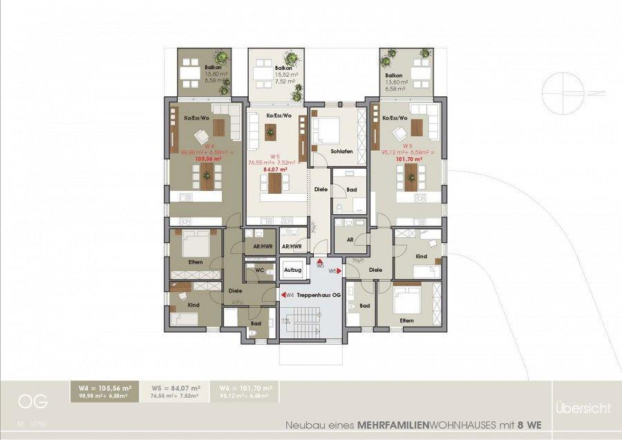 wohnanlage kaufen 0 zimmer 85.25 bis 110.16 m² tawern foto 6