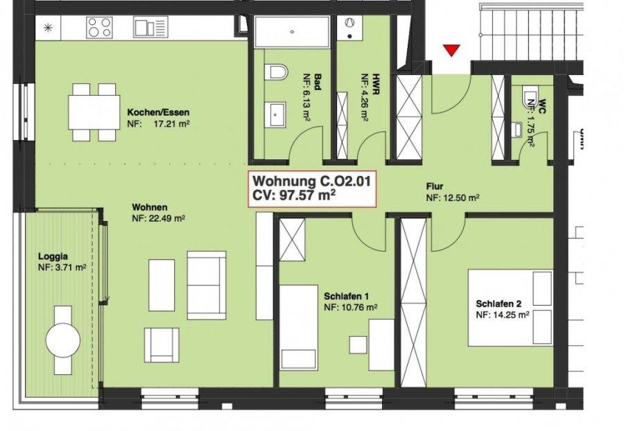 acheter appartement 2 chambres 97.57 m² wasserbillig photo 1