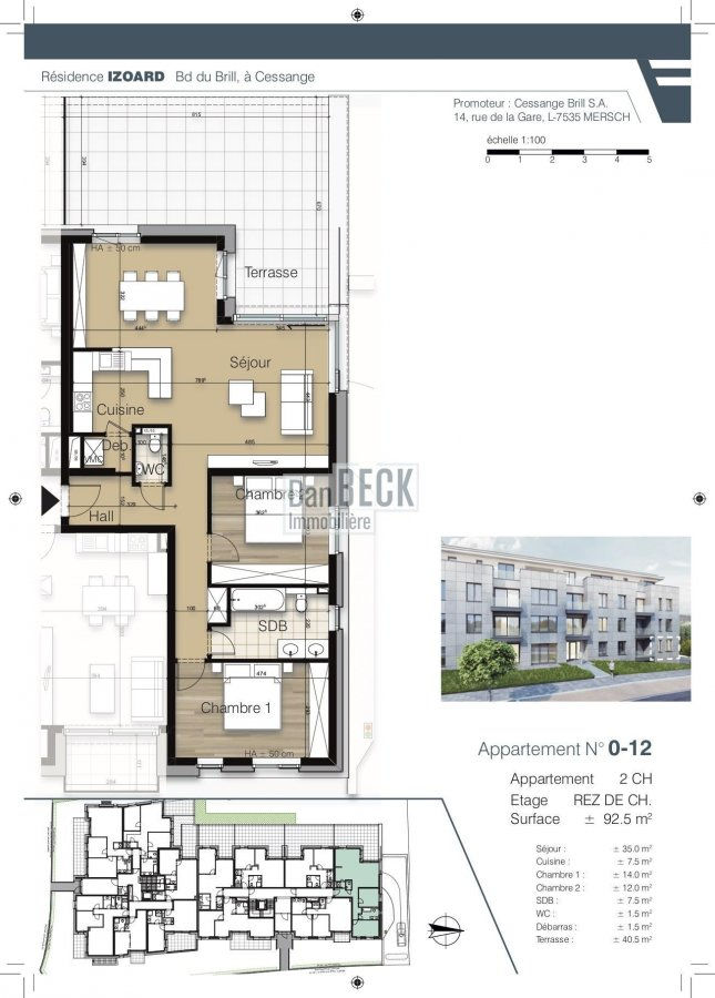 acheter appartement 2 chambres 92.4 m² luxembourg photo 2
