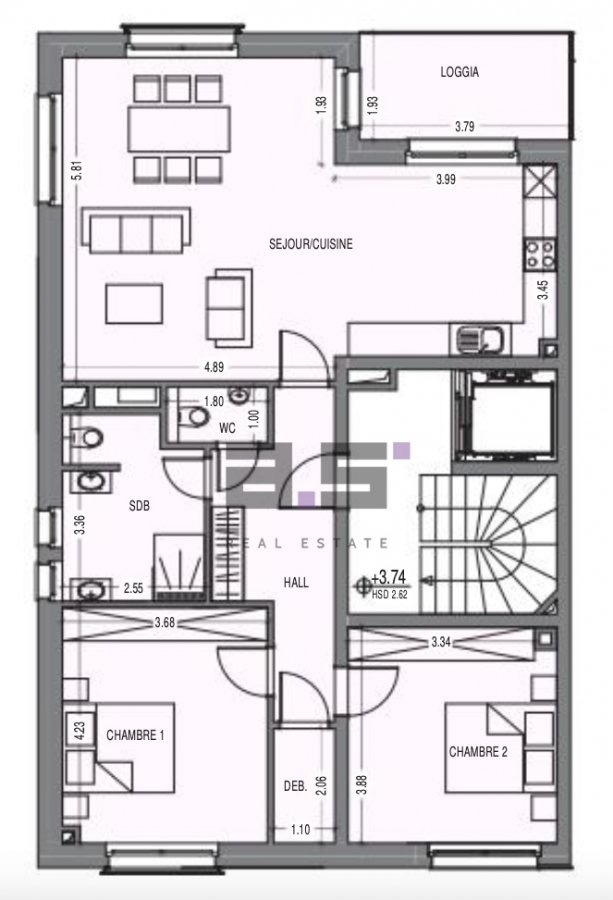 apartment for buy 2 bedrooms 97.67 m² clemency photo 4