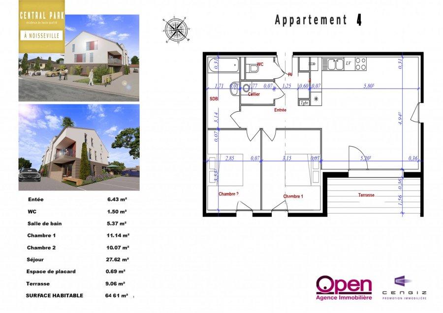 acheter appartement 3 pièces 64.61 m² noisseville photo 4