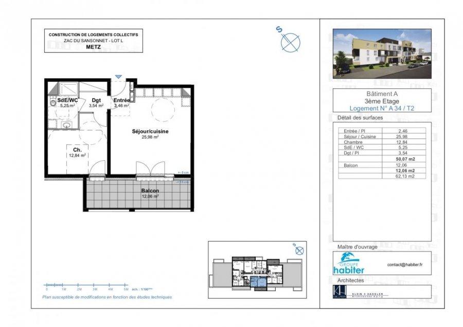apartment for buy 2 rooms 50 m² metz photo 1