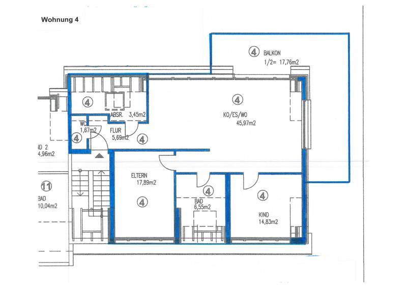 wohnung kaufen 3 zimmer 113.81 m² trier foto 4
