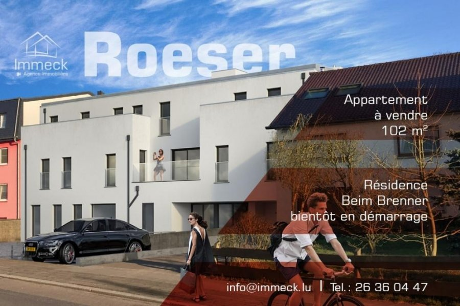 apartment for buy 3 bedrooms 102.27 m² roeser photo 1