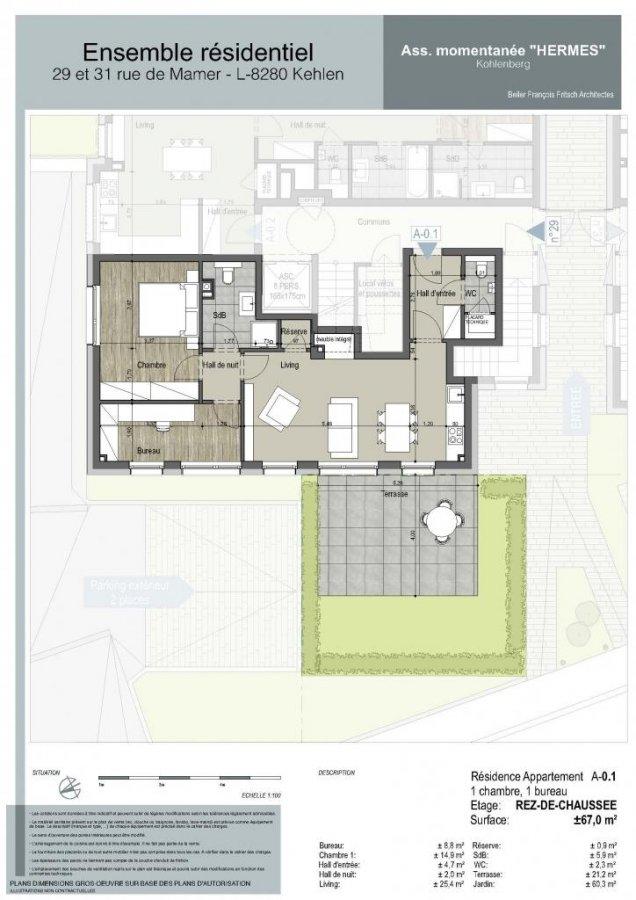 acheter appartement 1 chambre 67 m² kehlen photo 5