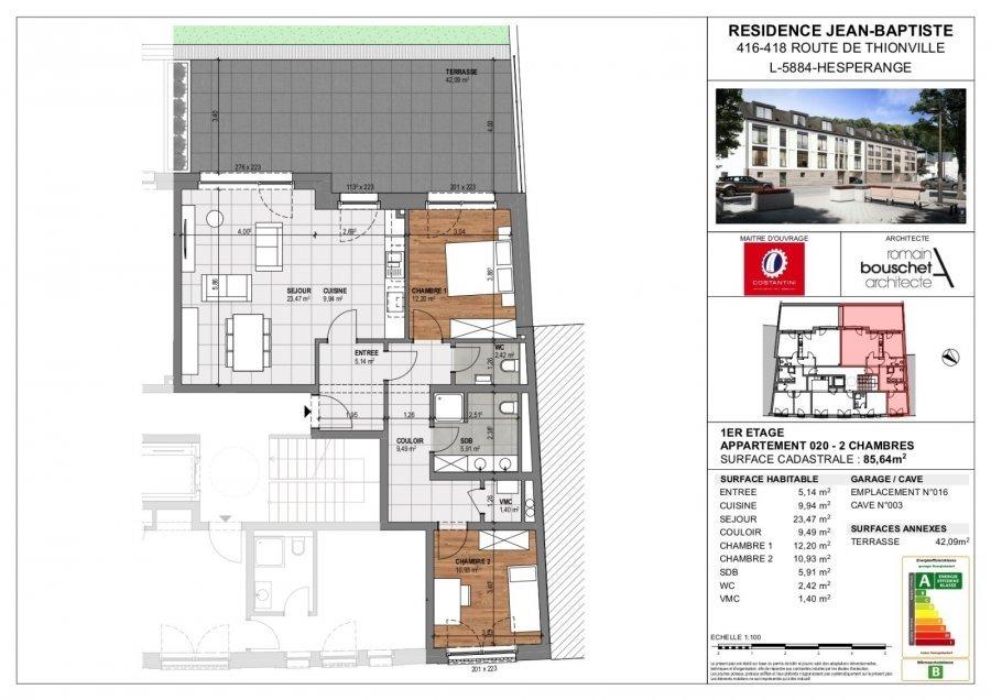 wohnung kaufen 2 schlafzimmer 100.27 m² hesperange foto 3