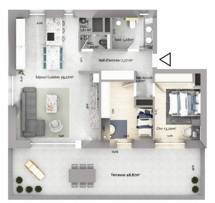 acheter appartement 2 chambres 86.77 m² eselborn photo 3