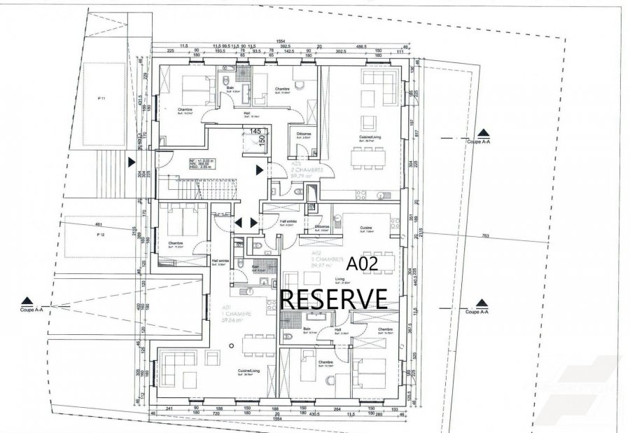Appartement à vendre 2 chambres à Feulen