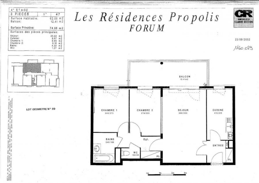 louer appartement 3 pièces 62 m² nancy photo 4
