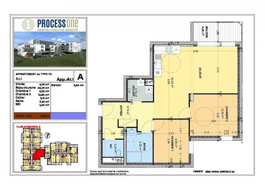 acheter appartement 3 pièces 72.85 m² amnéville photo 1
