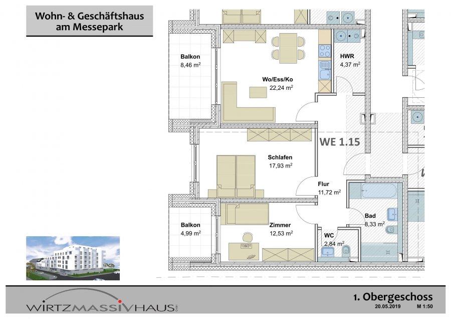 wohnung kaufen 3 zimmer 86.69 m² trier foto 3