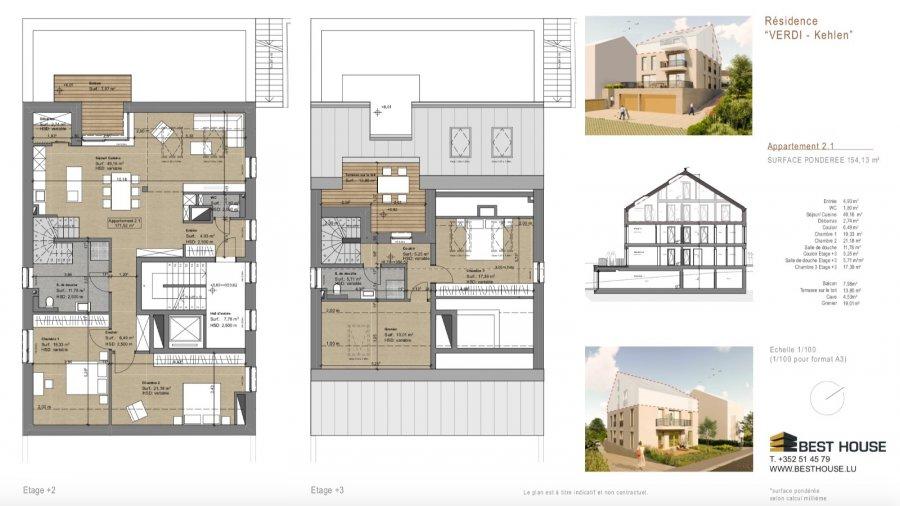 acheter penthouse 4 chambres 154.13 m² kehlen photo 3