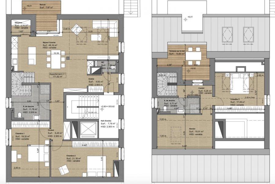 acheter penthouse 4 chambres 154.13 m² kehlen photo 4