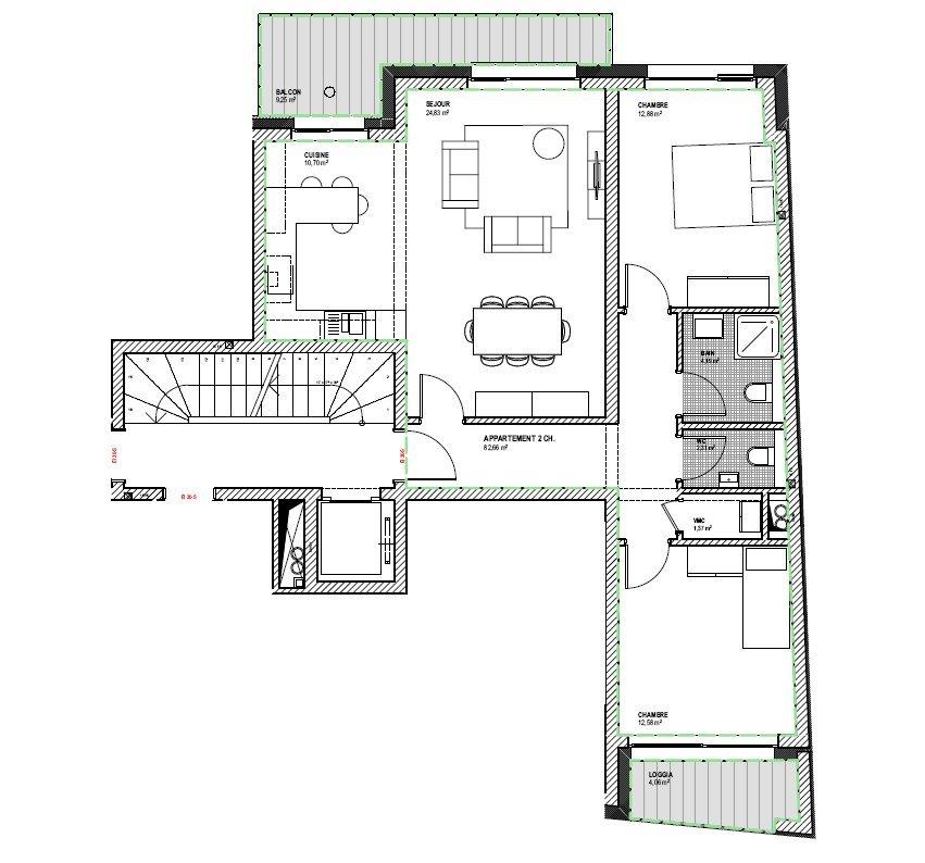 acheter appartement 2 chambres 82.66 m² esch-sur-alzette photo 3
