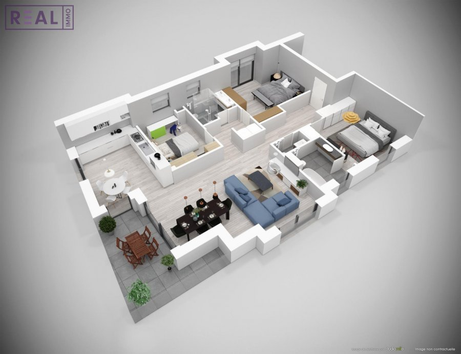 acheter appartement 3 chambres 122.64 m² luxembourg photo 4