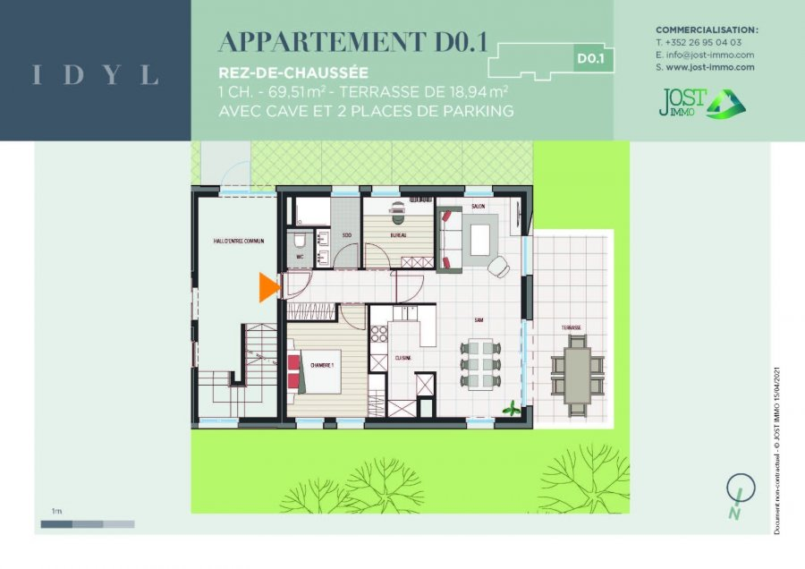 acheter appartement 1 chambre 69.51 m² petit-nobressart photo 2