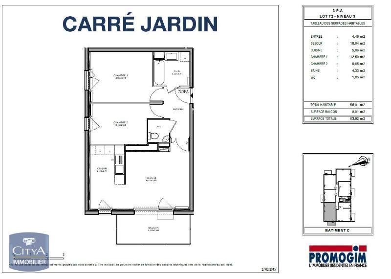 louer appartement 3 pièces 55 m² hoenheim photo 3