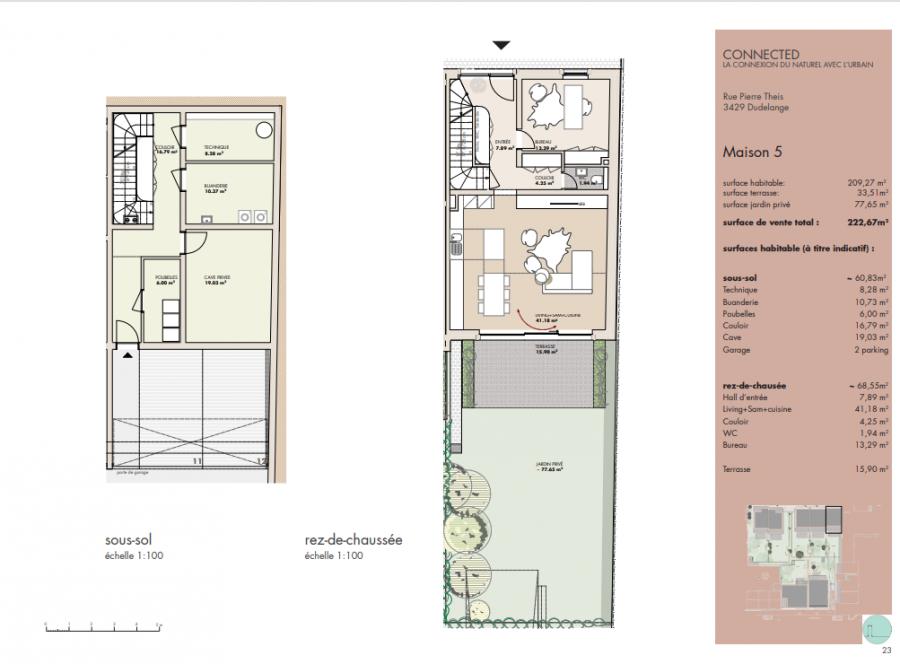 acheter maison mitoyenne 4 chambres 209.27 m² dudelange photo 2