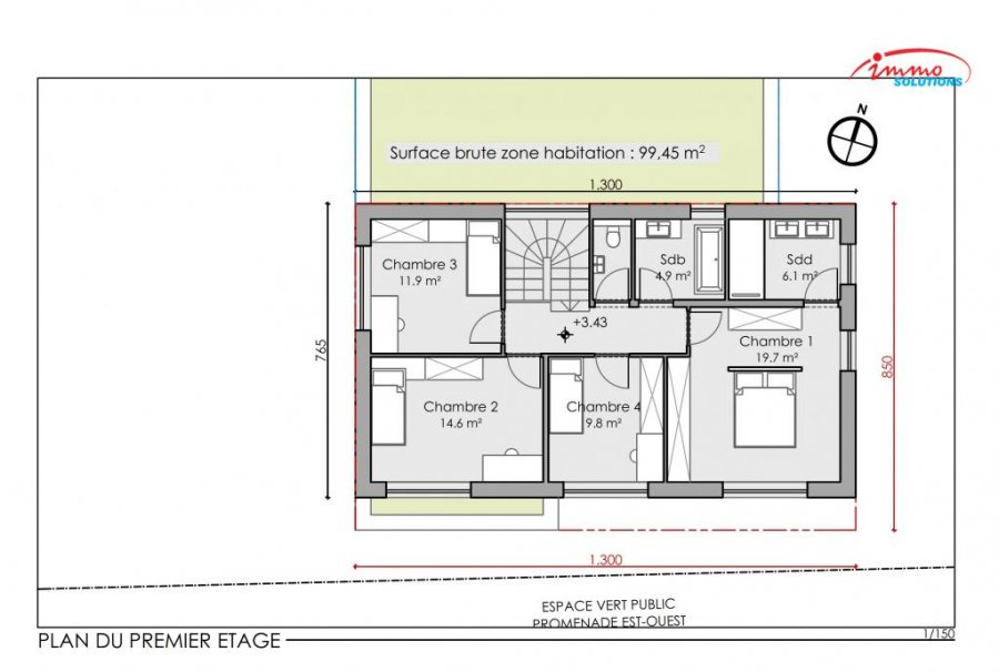 acheter maison mitoyenne 4 chambres 242.01 m² steinfort photo 6
