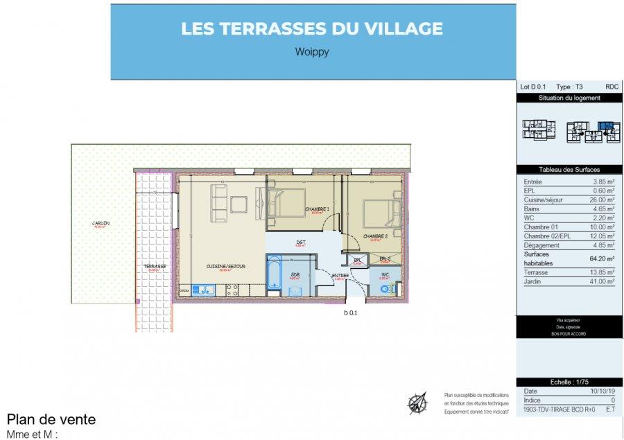 acheter appartement 3 pièces 64.2 m² woippy photo 2