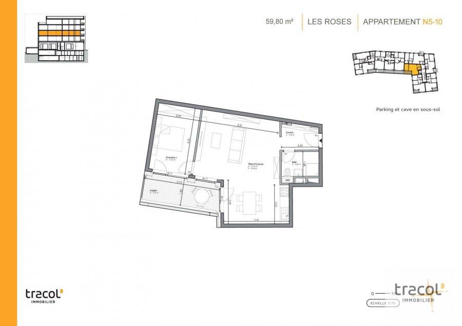 acheter appartement 1 chambre 59.8 m² niederkorn photo 2
