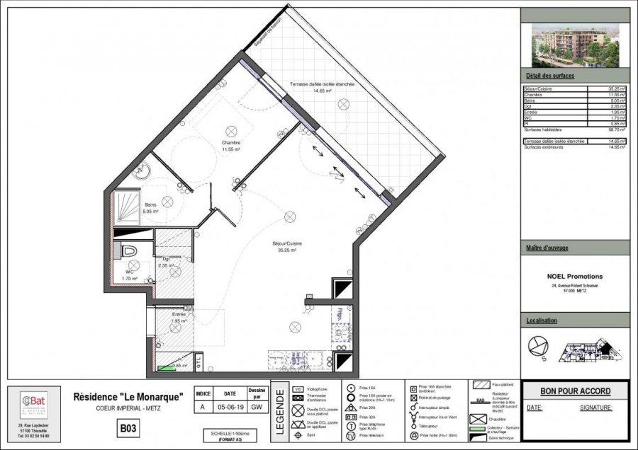 acheter appartement 2 pièces 58 m² metz photo 1
