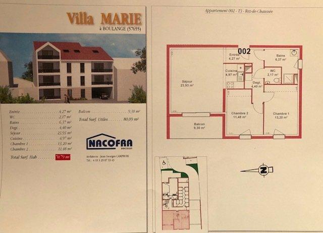 acheter appartement 3 pièces 71 m² boulange photo 3