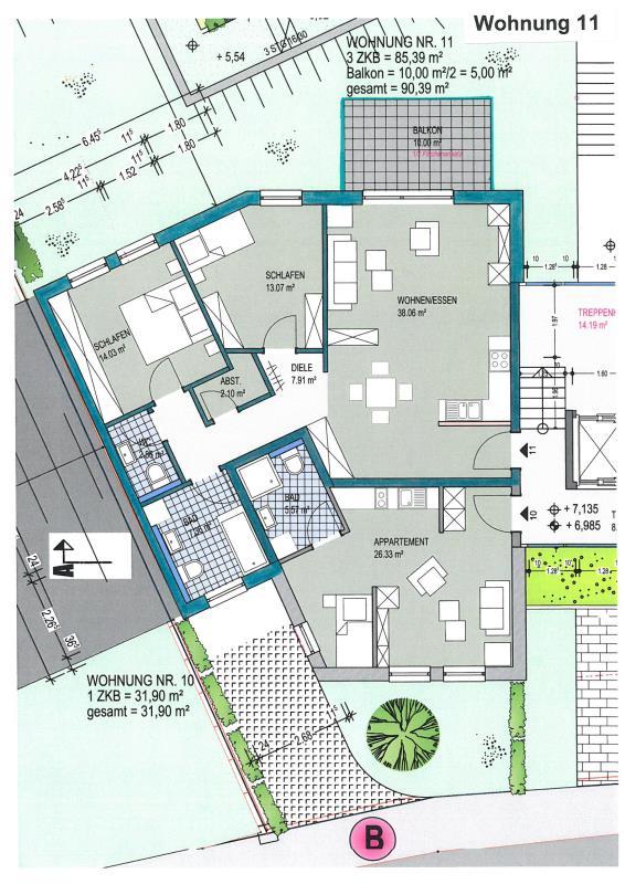 acheter appartement 3 pièces 90.39 m² konz photo 1