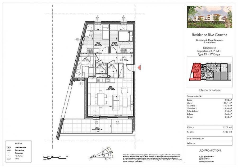 acheter appartement 3 pièces 77.21 m² manom photo 2