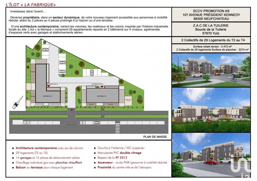 acheter appartement 4 pièces 78 m² yutz photo 3