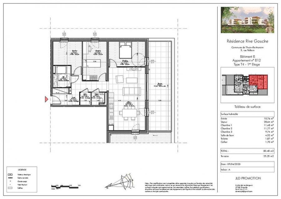 acheter appartement 4 pièces 80.48 m² manom photo 3