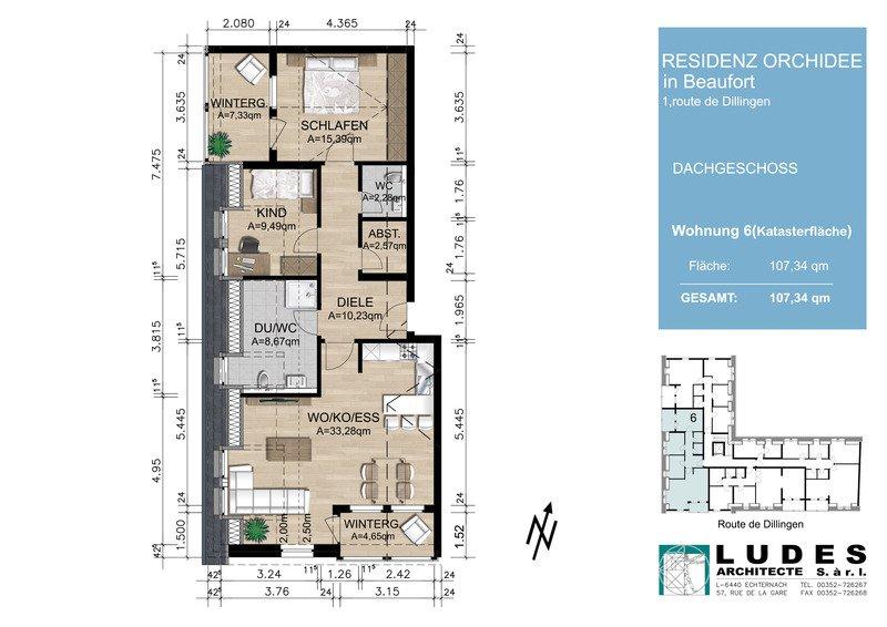 acheter appartement 2 chambres 107.34 m² beaufort photo 2