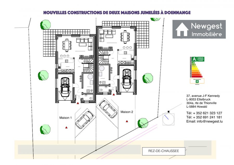 Maison jumelée à vendre 3 chambres à Doennange